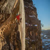 Justin Willis working a winter project on East Animas 2020.<br> <br> Grumpyhighlander Photography.