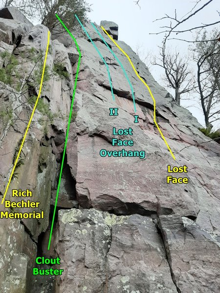 Lost Face left side routes