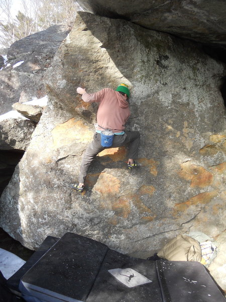 Mike Lee on the Flintstone slab