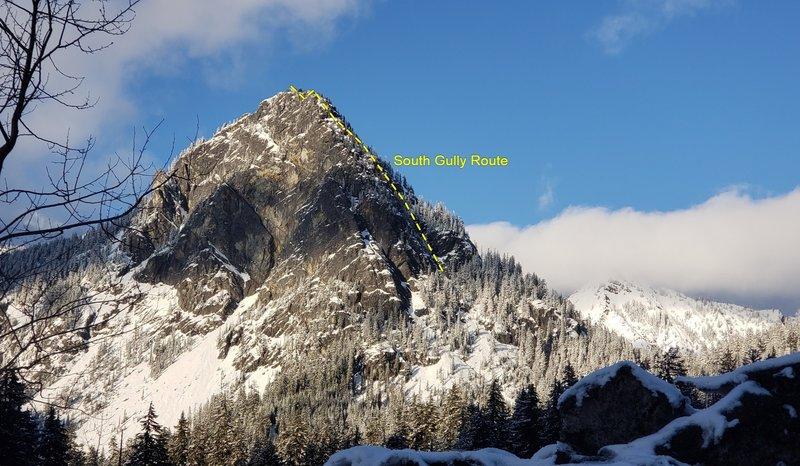 Guye Peak South Gully Route