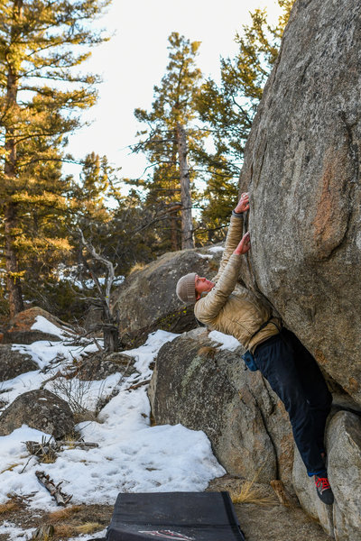 Bouldering options abound at Homestake Pass and the Pipestone area