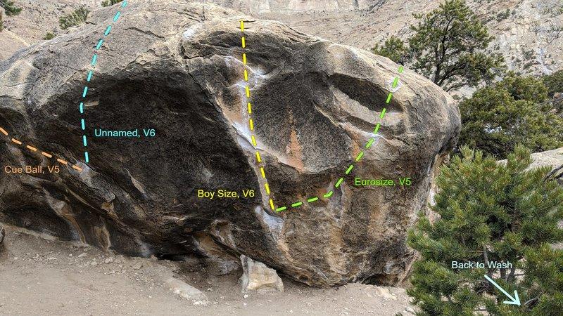 Boy Size Boulder