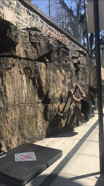 [1/2] Starting holds of traverse section