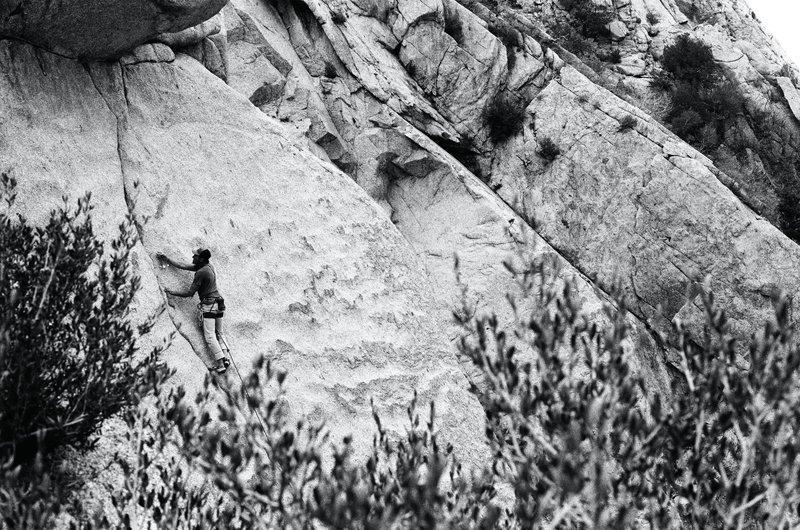 Unknown Climber working the section below the roof.