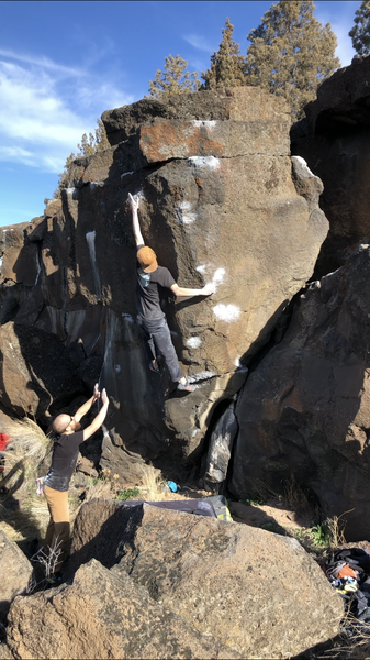 Tanner on the first ascent of Cig-arete