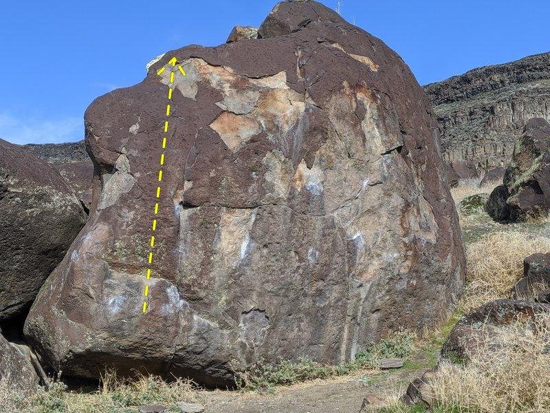 Flaky Boulder- sit start makes it much harder than V1