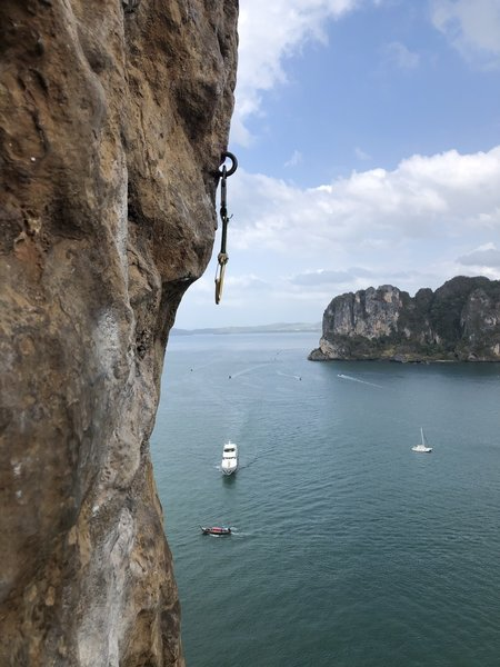 A photo from up on the Thaiwand Wall on Railay.  Photo by Brett Christian