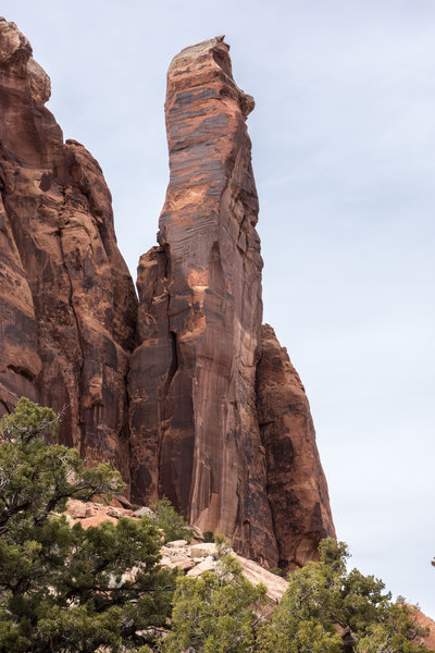Andrey's Tower from up canyon