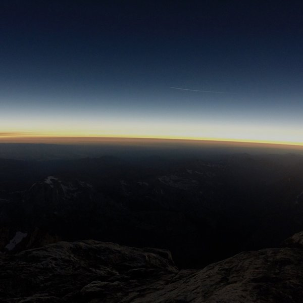 The 2017 Eclipse from the summit. This was at noon on a clear sunny day!