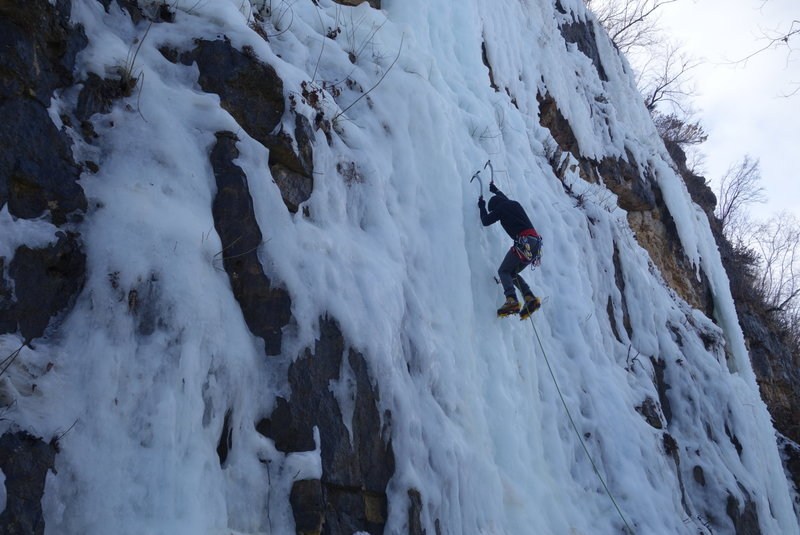 First half of the main wall in March Conditions.