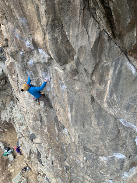 Midway into the crux.