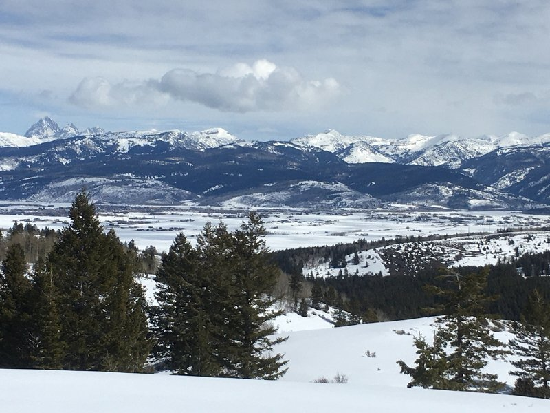 The Tetons from the Big Hole Mountains