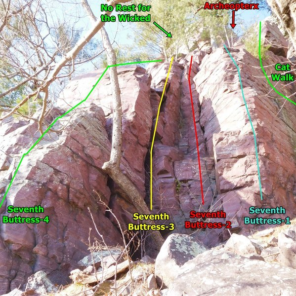The right side of the Seventh Buttress area.