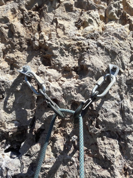 Upgraded anchors hooks compliments of American Safe Climbing Association.<br> <br> Donate at www.safeclimbing.org.