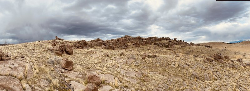 This is the front face of the Nephi boulders, just past the parking area. Just to wet your taste for the place.