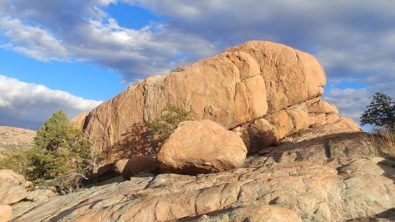 West face of Outback Boulder.