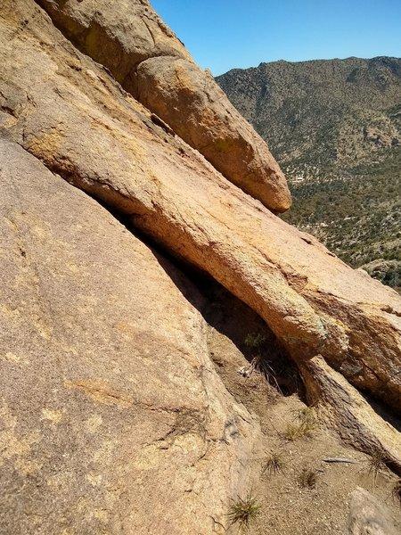 Where the actual climbing begins...