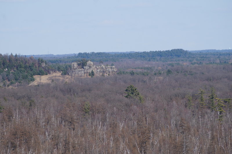 The southern end of Rattlesnake Mound, seen from Quincy Bluff