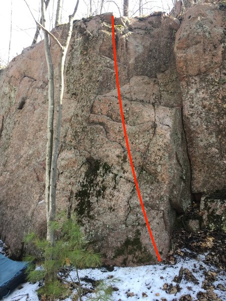 climb obvious features