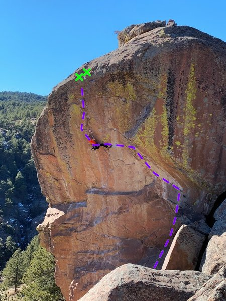 The purple line is the topo for Yellar Belly.