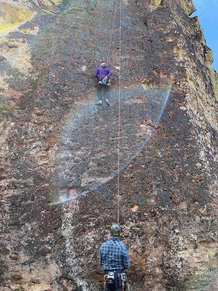 Maddies first outdoor climb!