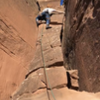Huggin' the pillar beta on Warpath-  solid rock and comfy placements!