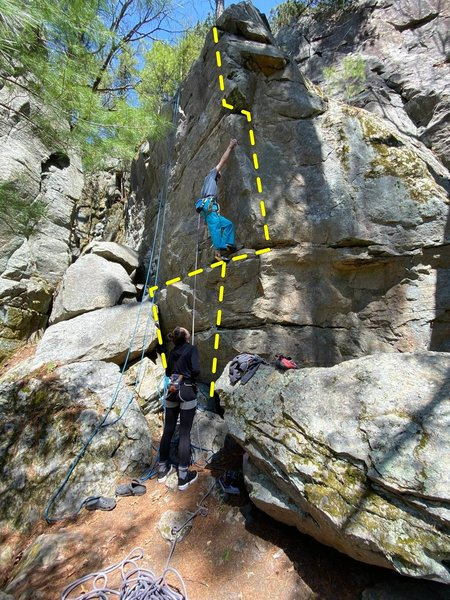 realized there are holds around the right of the arete