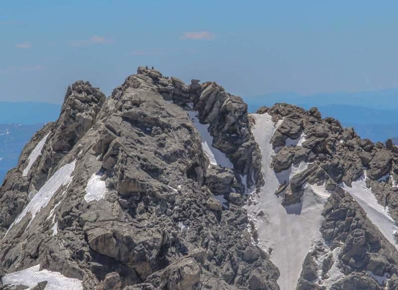 Climbers on the Middle Teton summit