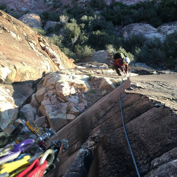 John following up Rain Dance. Highly suggest this linkup into Frogland makes for a more varied moderate adventure!