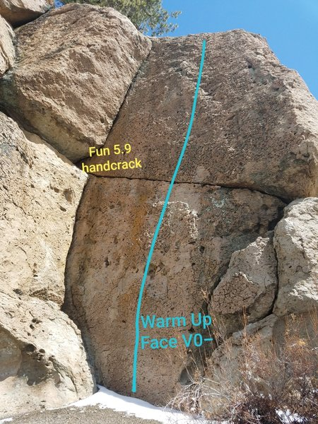 Warm Up Face and unnamed corner crack