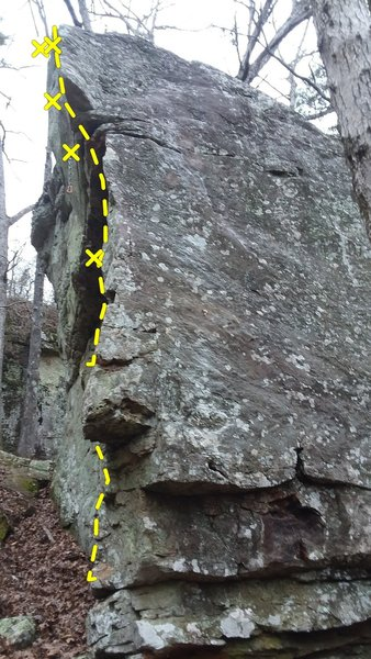 Left side of the arete