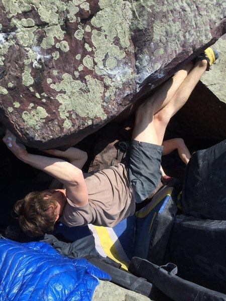Ben Summay using that dangle power on Rareity Roof.