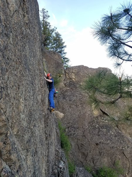 Craig A. before bolting the route.