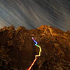 Long exposure photo climbing with LEDs