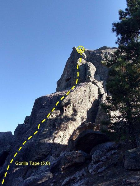 Gorilla Tape (5.8), Holcomb Valley Pinnacles