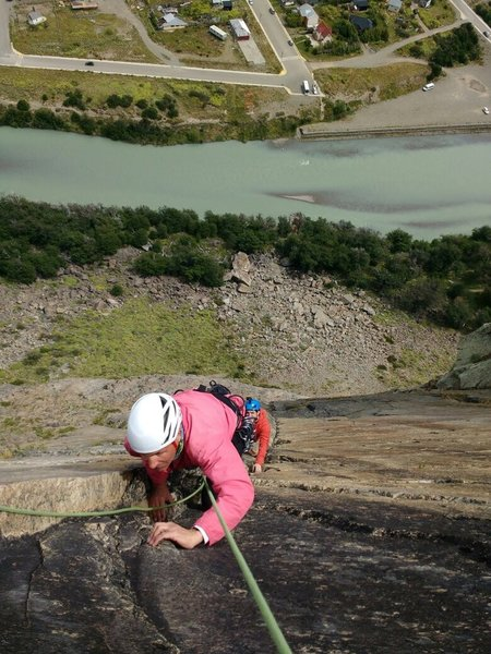 Nearing the top of pitch 4.