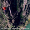 """The """"Spider People""""—Luo Dengping and other members of the Miao minority traditionally free solo the cliffs to harvest herbs and guano. They now perform in Getu on an 85m route! They are local celebrities in the village and you can meet them at the Arch."""