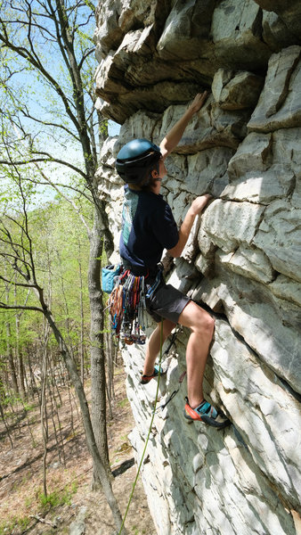Emil on the Wall of Wonder. Tons of horizontal placements, not great feet. Bring tricams.