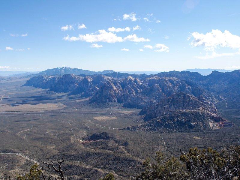 The escarpment.