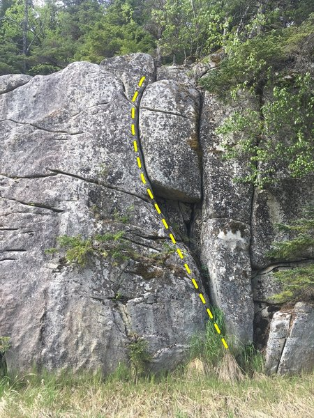 H.M.H.B.H.D.S.Y. is the left-most vertical crack featured in this photo