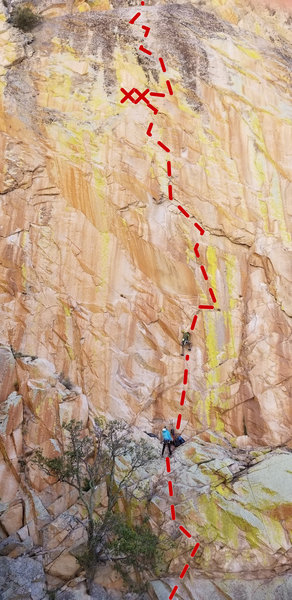 Greg Kay on his redpoint of pitch 2.