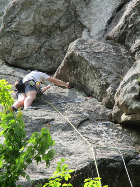Alec just before the belay