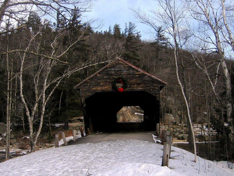 The Covered Bridge - namesake feature of the area.  18 February 2006.