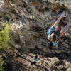 Joe Schmitz nearing the top of the route