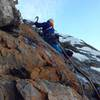 Mark Allen entering the Queen Dihedral Pitches. Seth Keena-Levin