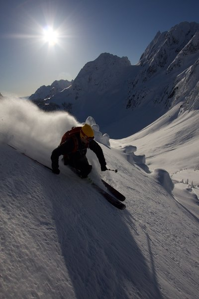 drew tabke at cascade pass in winter of 2011 i think on a ski of sahale photo bissell hazen