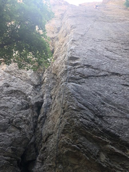 A good view of the Italian Arete directly from the bottom!
