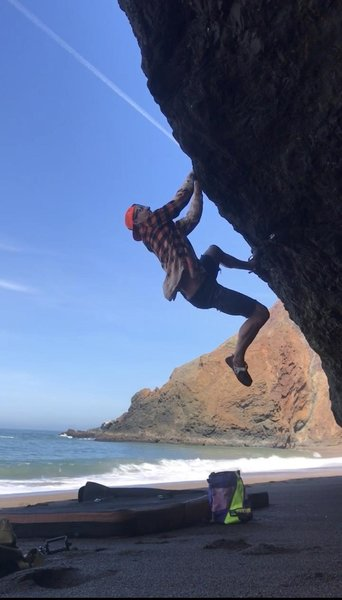 lip traverse V5? with a crubby/dangerous topout