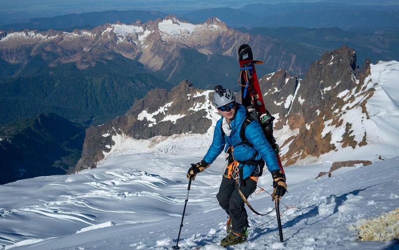 Myself on the Easton Glacier (photo by Thor Retzlaff).
