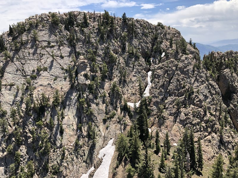 North face of South Summit from Hestia